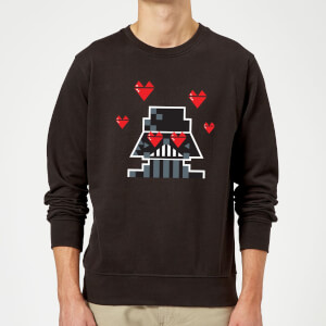 Star Wars Valentine's Vader In Love Sweatshirt - Black