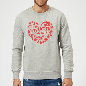 Star Wars Valentine's Heart Montage Sweatshirt - Grey
