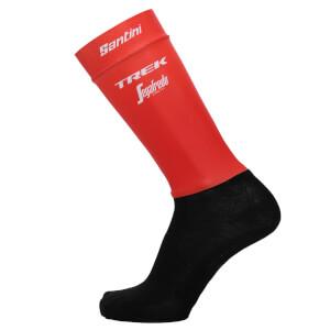 Santini Trek-Segafredo 18 Aero Pro Team Socks - Red