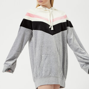 4944008c1f03 Juicy Couture Women s Colourblock Lightweight Velour Hooded Dress - Silver  Lining Angel Combo