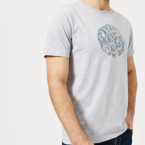 Pretty Green Men's Portside Paisley Logo T-Shirt - Grey