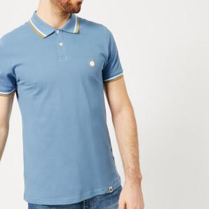 Pretty Green Men's Bassline Short Sleeve Polo Shirt - Mid Blue