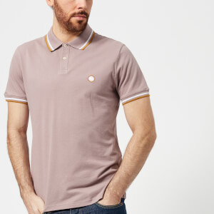 Pretty Green Men's Bassline Short Sleeve Polo Shirt - Dusky Pink
