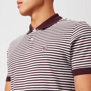Pretty Green Men's Feeder Polo Shirt - Burgundy