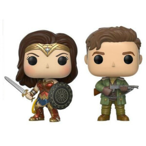 Lot de 2 Figurines Pop! Steve Trevor & Wonder Woman - Marvel