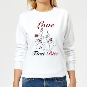 Disney Princess Snow White Love At First Bite Women's Sweatshirt - White