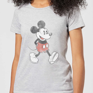 Disney Mickey Mouse Walking Women's T-Shirt - Grey