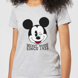 Disney Mickey Mouse Since 1928 Frauen T-Shirt - Grau
