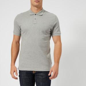 Aquascutum Men's Hill CC Pique Short Sleeve Polo Shirt - Grey Melange