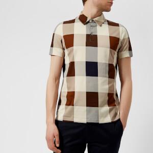 Aquascutum Men's Cody Large Check Polo Shirt - Vicuna