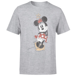 Disney Mickey Mouse Minnie Offset T-Shirt - Grey