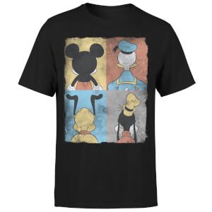 T-Shirt Homme Mickey Mouse Donald Duck Pluto Dingo (Disney) - Noir