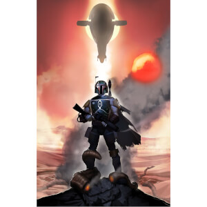 "Star Wars: Return Of The Jedi """"Mandalorian Mettle"""" Lithograph By Jeremy Saliba (15.5""""x24"""") Zavvi UK Exclusive"