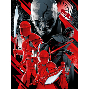 "Star Wars: The Last Jedi """"The New Order"""" Silkscreen Print By Alexander Iaccarino (18""""x24"""") Zavvi UK Exclusive"
