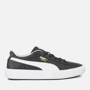 Puma Men's Breaker Leather Trainers - Puma Black/Puma White