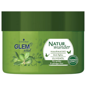 Glem Vital Naturwunder Haarmaske Anti-Spliss Olivenöl