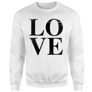 Love Textured Sweatshirt - White