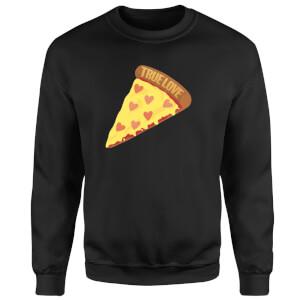 Sweat Homme True Love Pizza - Noir