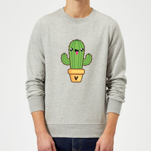 Cactus Love Sweatshirt - Grey