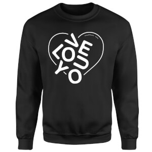 Love You Jumble Sweatshirt - Black