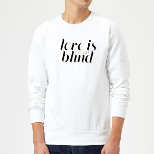 Sweat Homme Love Is (Colour) Blind - Blanc