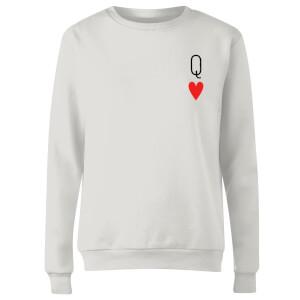 Queen Of Hearts Women's Sweatshirt - White