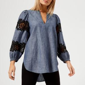 See By Chloé Women's Denim Shirt - Blue