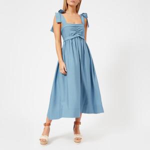 See By Chloe Women's Wide Tie Strap Midi Dress - Paloma Blue