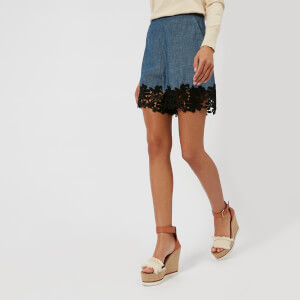 See By Chloe Women's Denim Shorts - Blue