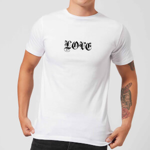 Love Gothic Text T-Shirt - White
