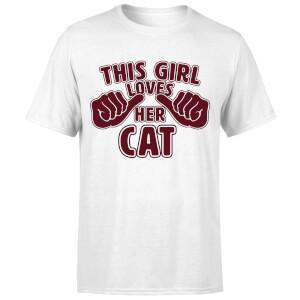 This Girl Loves Her Cat T-Shirt - White