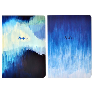 Portico Designs Blue Abstract A5 Exercise Books (Set of 2)