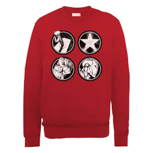 Marvel Avengers Assemble Main Logos Sweatshirt - Red