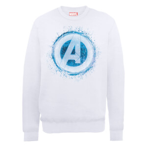 Marvel Avengers Assemble Glowing Logo Sweatshirt - White
