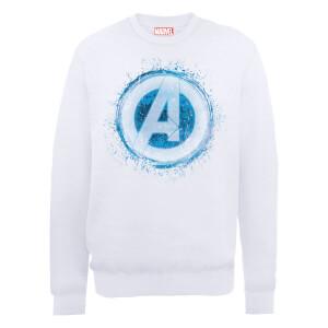 Sudadera Marvel Los Vengadores Logo Avengers Brillante - Hombre - Blanco
