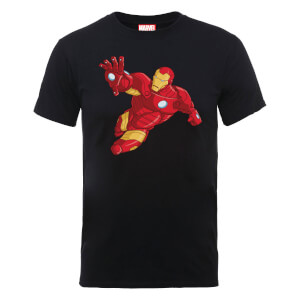 Marvel Avengers Assemble Iron Man T-shirt - Zwart