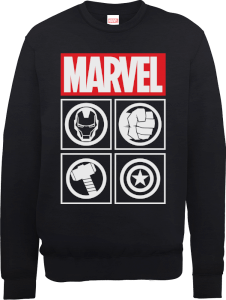 Sweat Homme Marvel Avengers Assemble - Icons - Noir