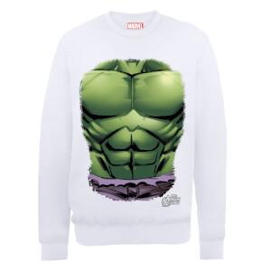 Marvel Avengers Assemble Hulk Chest Sweatshirt - White