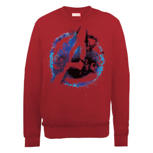 Marvel Avengers Assemble Flared Logo Sweatshirt - Red