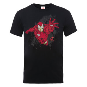 T-Shirt Marvel Avengers Assemble Iron Man - Nero