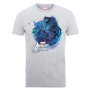 T-Shirt Homme Marvel Avengers Assemble - Captain America Montage - Gris