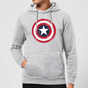 Marvel Avengers Assemble Captain America Distressed Shield Hoodie - Grijs