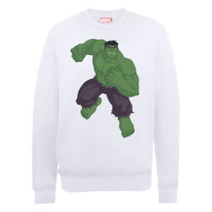 Marvel Avengers Assemble Hulk Pose Sweatshirt - White