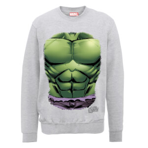 Felpa Marvel Avengers Assemble Hulk Chest - Grigio