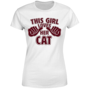 This Girl Loves Her Cat Women's T-Shirt - White