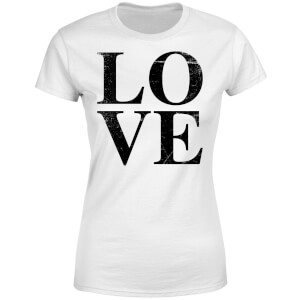 Love Textured Women's T-Shirt - White