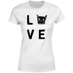 Cat Love Women's T-Shirt - White
