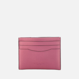 Coach Women's Flat Card Case - Metallic Rose
