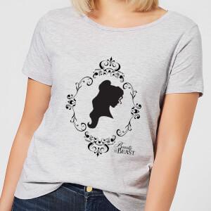 T-Shirt Femme Silhouette Belle - La Belle et la Bête (Disney) - Gris