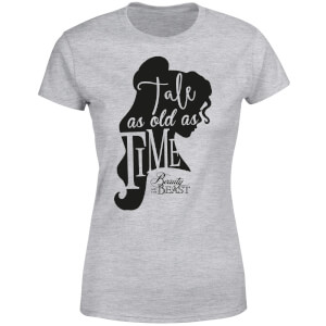 Disney Beauty And The Beast Princess Belle Tale As Old As Time Women's T-Shirt - Grey